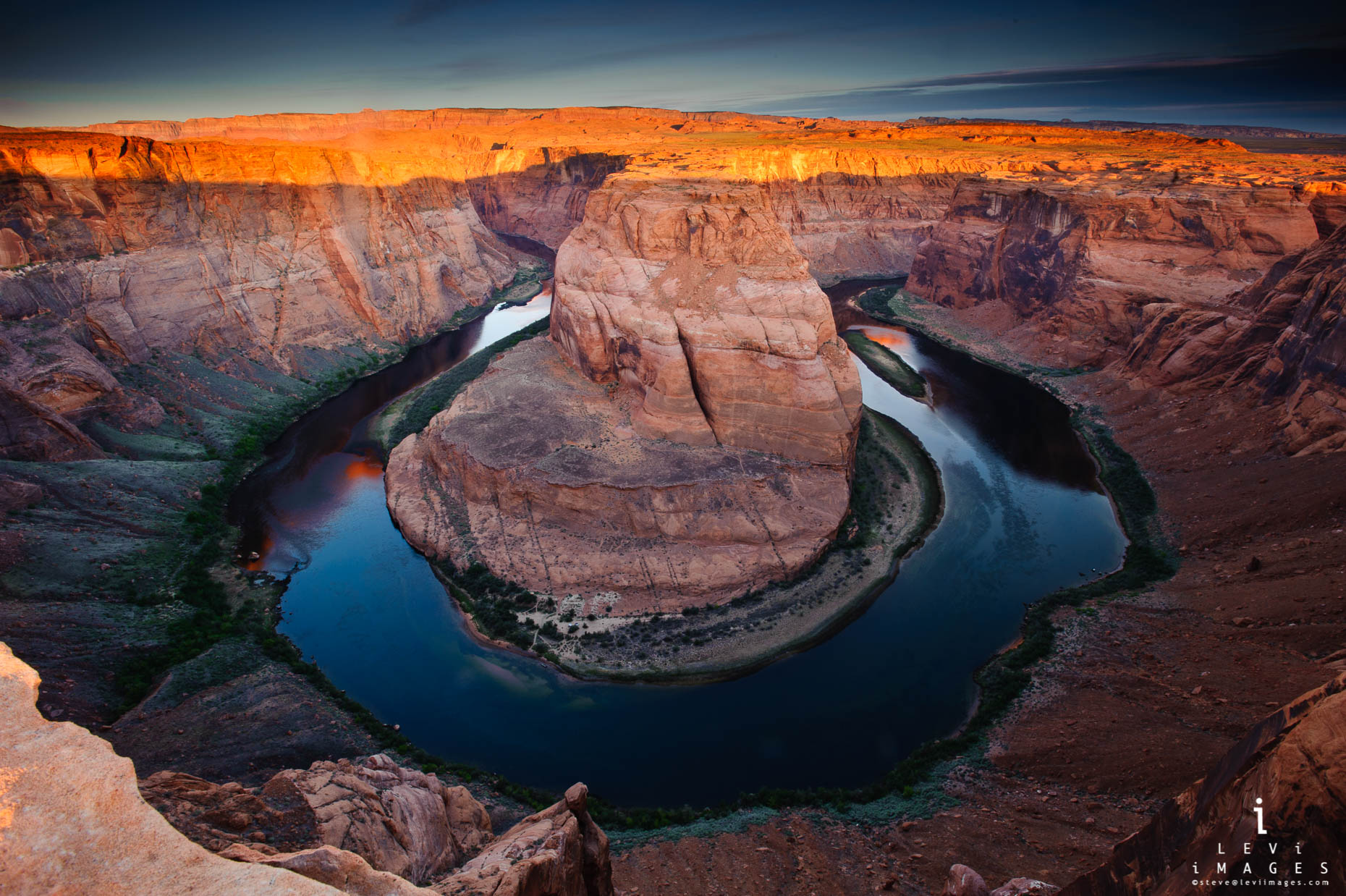 horseshoe bend sunset. Page Arizona