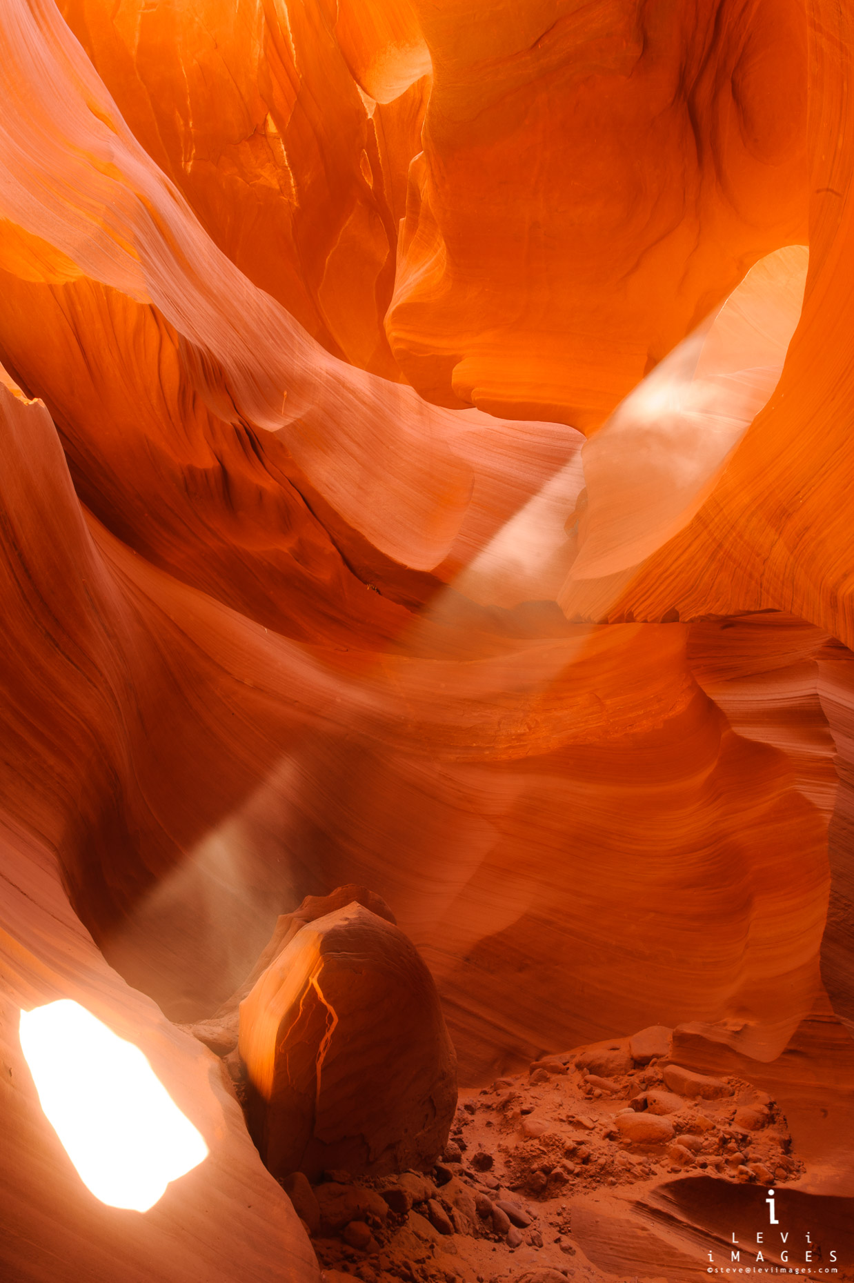 Slot canyon sunbeam. Page Arizona