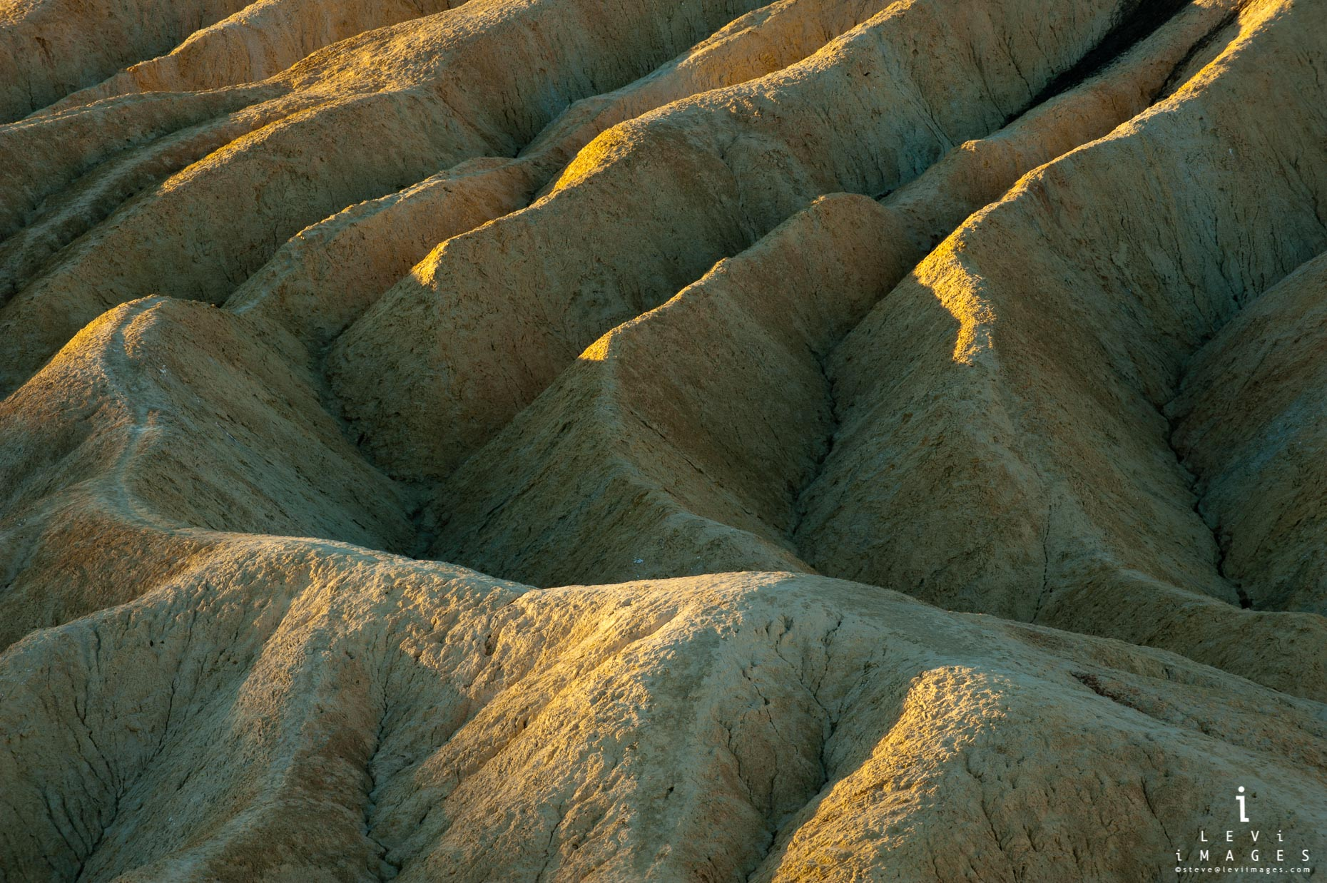 The trail. Death Valley abstract. Zabriski Point, California