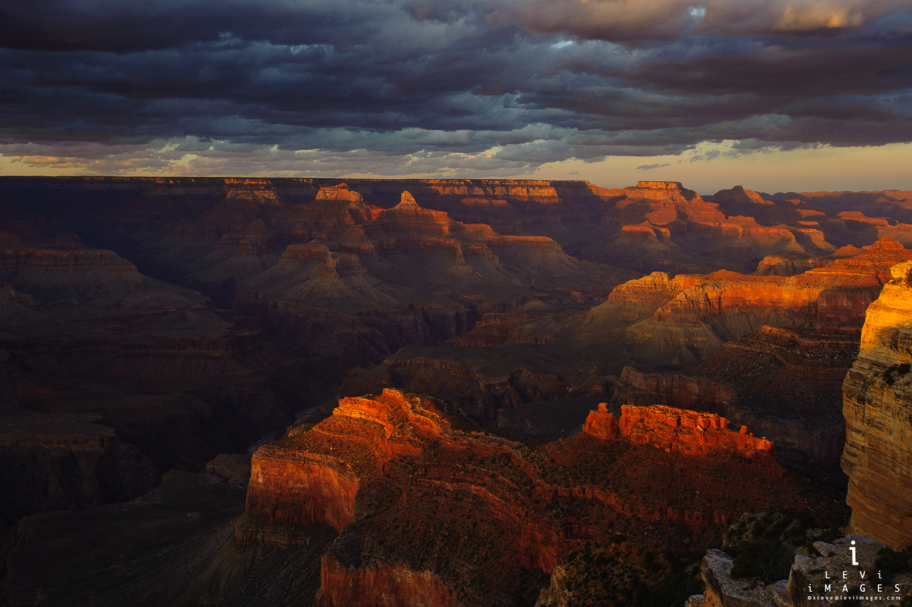 Grand Canyon sunset. Grand Canyon NP