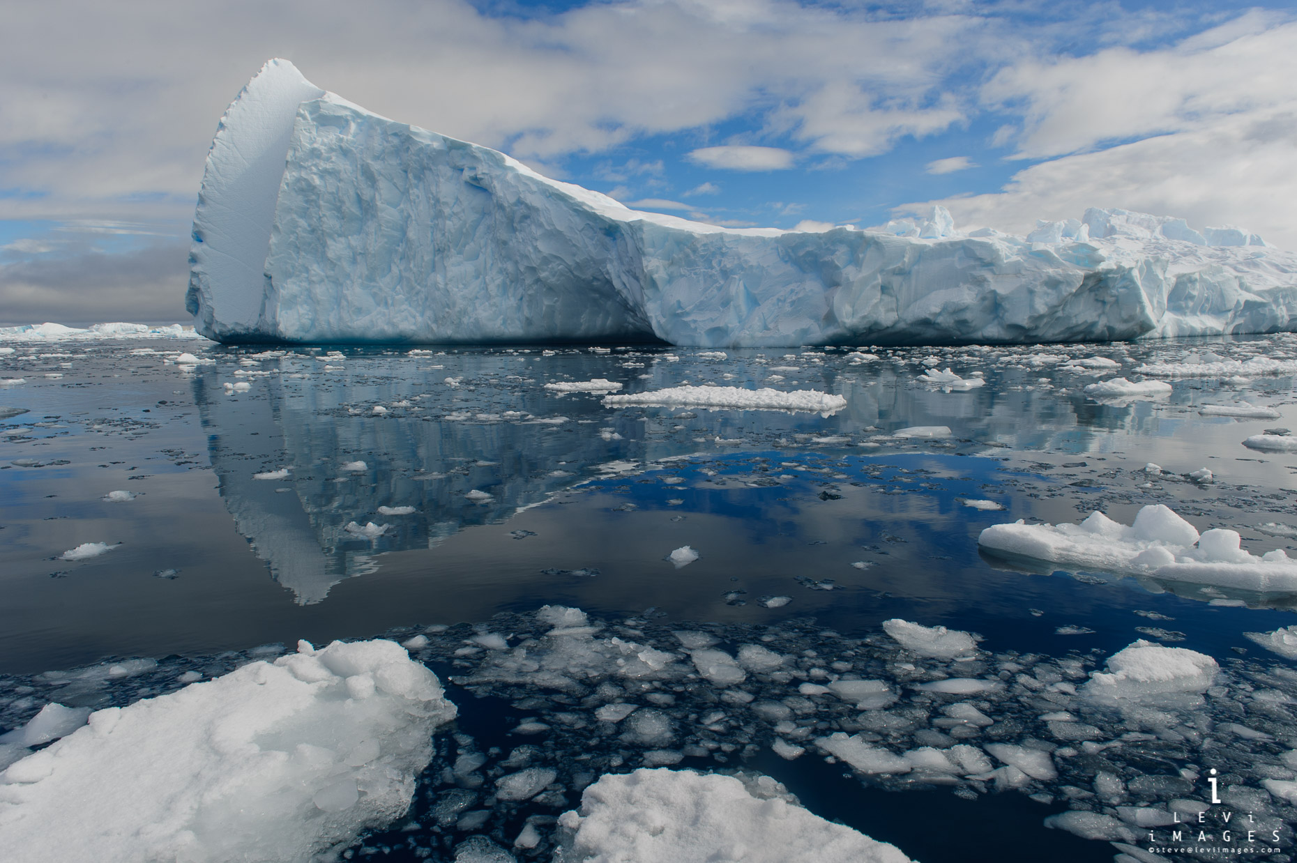 Iceberg and reflection, Cierva Cove Antarctica